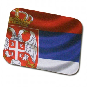 Rectangular mouse pad with SRB flag